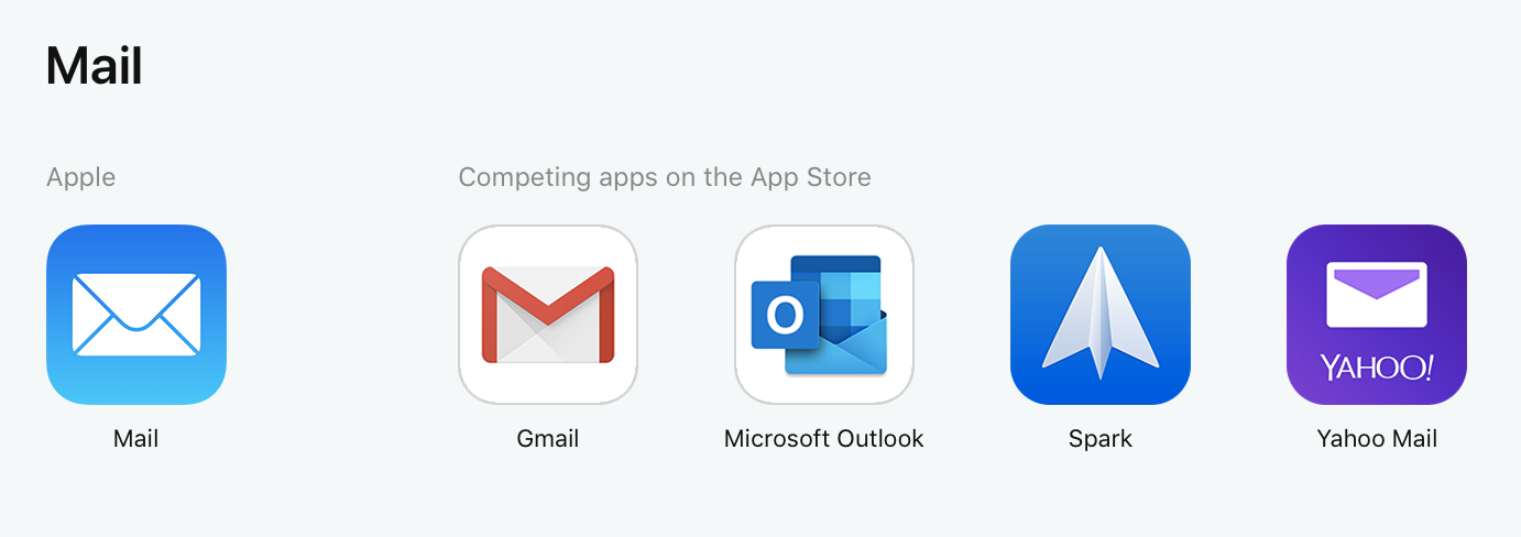 Apple App Store Mail Apps