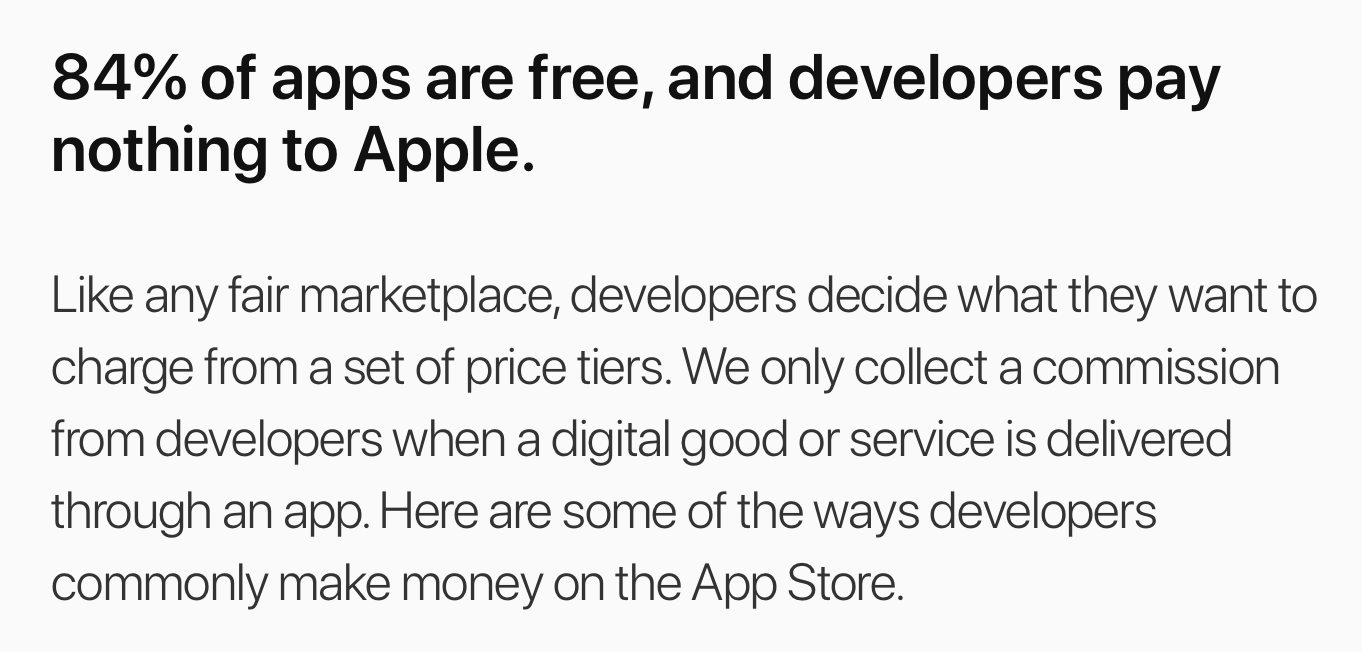 Apple App Store Principles and Practices Page