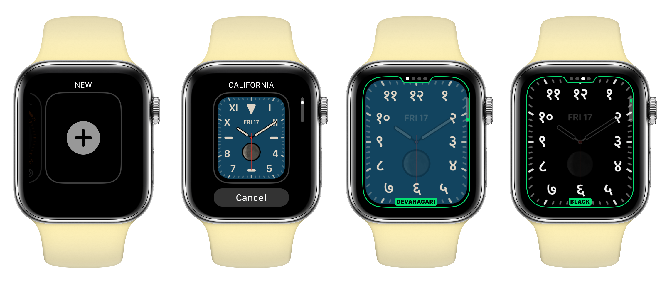 Apple Watch running Devanagari Numbers Watch Face