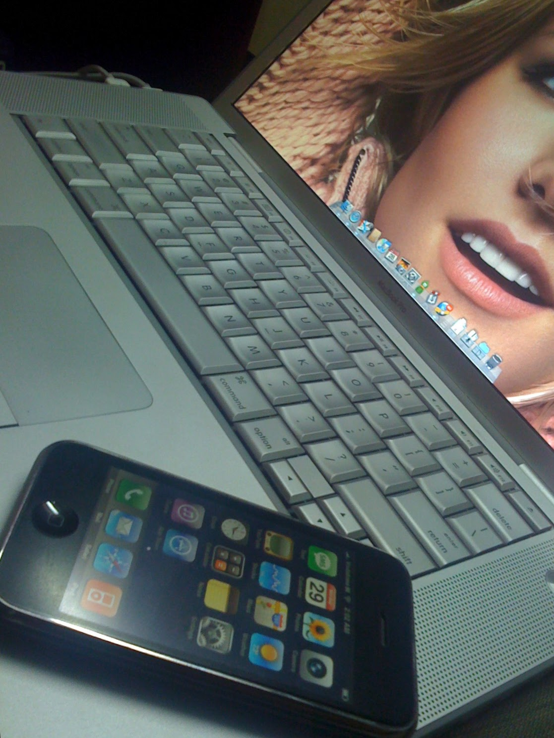 Preshit's MacBook Pro and iPhone